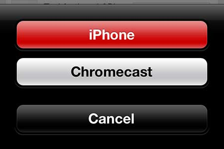 how to watch youtube on the chromecast on the iphone 5