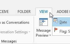 where are my folders in outlook 2013