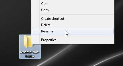 learn a faster way to rename files in windows 7