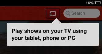 p[op-up letting you know that you can use chromecast