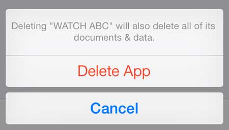 how to delete an app on the iphone 5 in ios 7