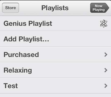 select the playlist to edit