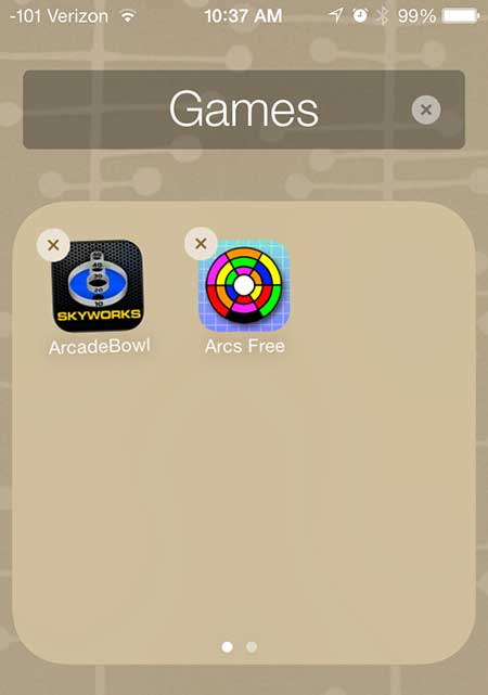 how to make app folders on the iphone 5 in ios 7