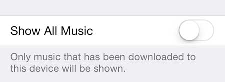 how to stop showing cloud music in ios 7 on iphone 5