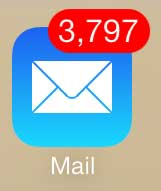 open the mail app