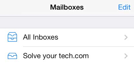 select the inbox you want to mark as read