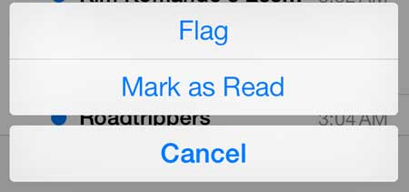 how to mark all emails as read in ios 7 on the iphone 5