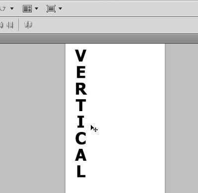 how to type vertically in photoshop cs5
