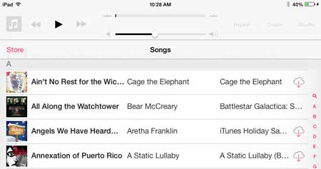 how to delete a song from the ipad 2 in ios 7