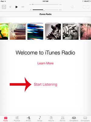 how to listen to itunes radio in ios 7 on the ipad 2