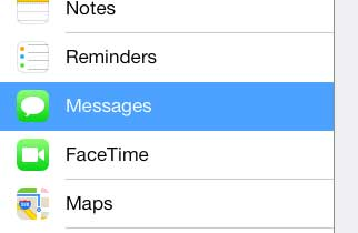 open the messages menu on the ipad 2