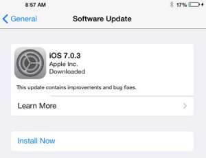 how to instll a software update in ios 7 on ipad 2
