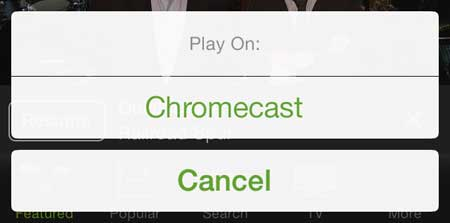 how to play hulu plus on the chromecast with the iphone 5