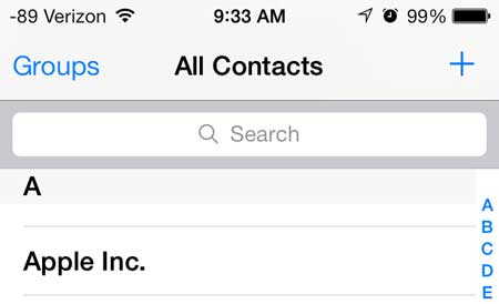 select the contact to which you want to add a picture