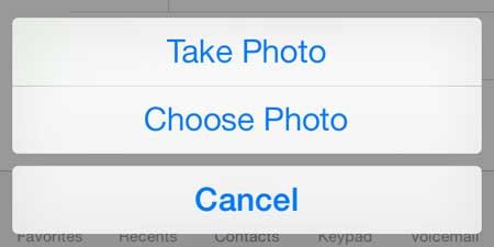 how to add a picture to a contact in ios 7 on the iphone 5