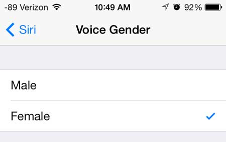 change the siri voice gender in ios 7