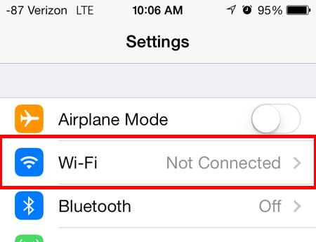 how to connect to a wireless network in ios 7 on iphone 5