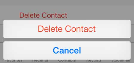 how to delete a contact in ios 7 on the iphone 5