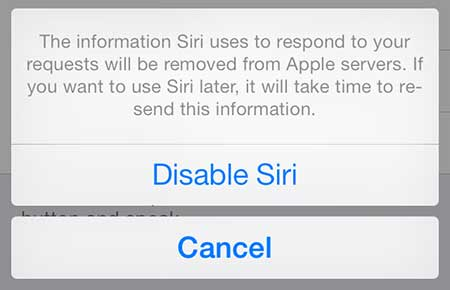 how to disable siri in ios 7 on the iphone 5