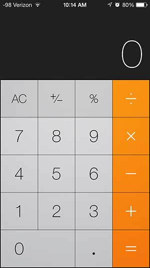how to use the calculator in ios 7 on the iphone 5