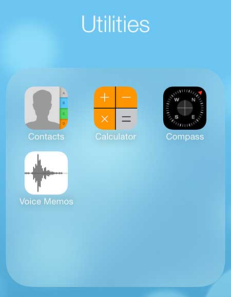 touch the calculator icon