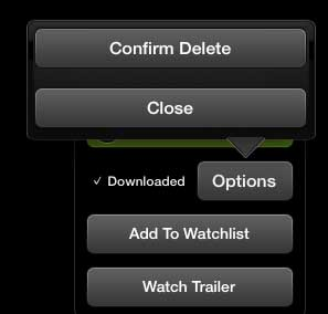 touch the confirm delete button