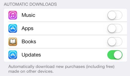how to automatically update apps in ios 7 on the ipad 2