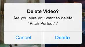 how to delete a movie from the ipad
