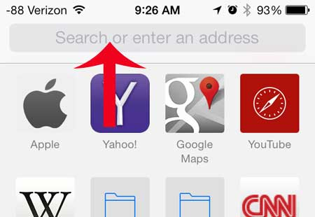 how to browse to website on iphone 5