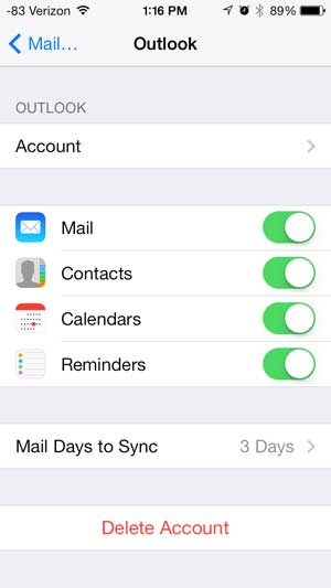 how to change email password on iphone how to change an email account password on the iphone 5 4941