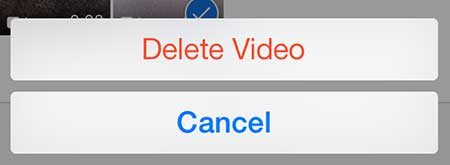 how to delete recorded video on the iphone 5 in ios 7