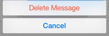 how to delete an individual text message in ios 7 on the iphone 5