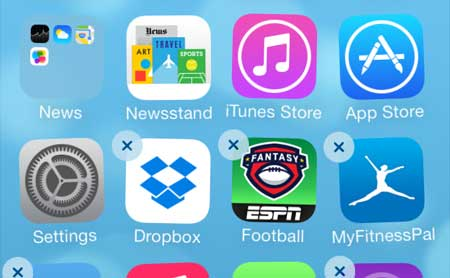 how to get apps out of the way on the iphone 5