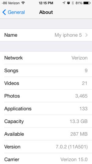 see how many songs, videos and pictures are on your iphone 5