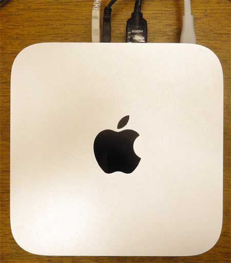 top-down view of the mac mini