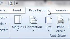 click the page layout