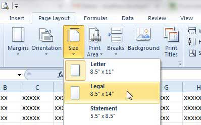 How To Print On Legal Paper In Excel 2010