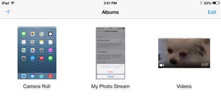 select the album with the picture you want to rotate