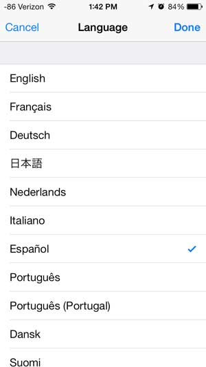 how to change the language on the iphone 5
