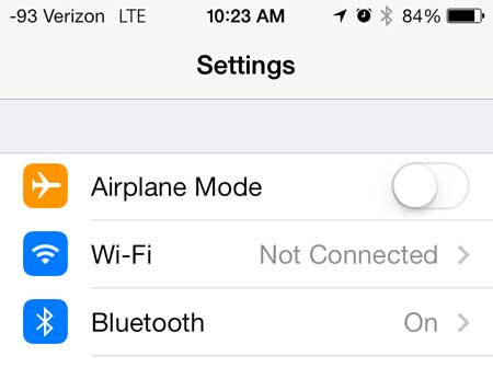 how to connect to wi-fi on iphone 5 in ios 7