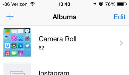 how to create a new picture folder on the iphone 5