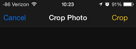 how to crop a picture in ios 7 on the iphone 5