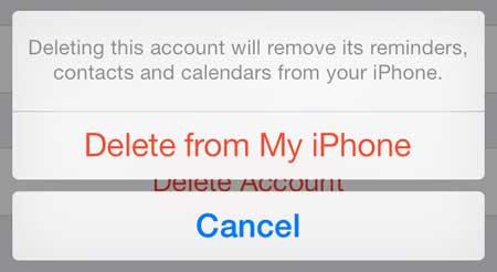 how to remove an email account on the iphone 5 in ios 7