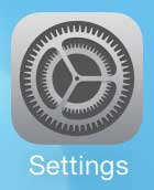 open the iphone settings menu