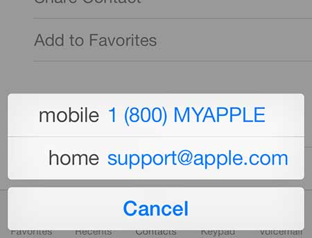 how to set a contact as a favorite on the iphone 5 in ios 7