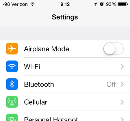 select the bluetooth option