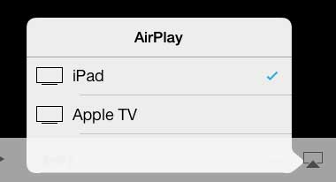 select the apple tv option