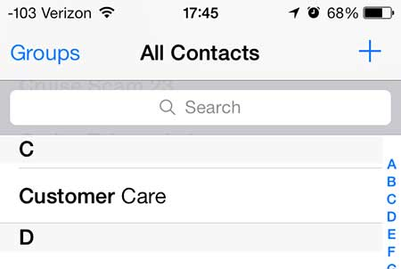 select the contact to change