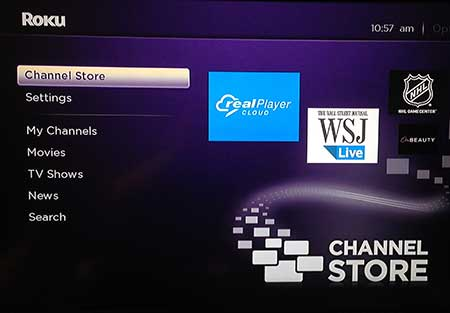 select the channel store