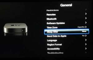 how to stop the apple tv from going to sleep